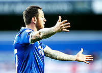 31st October 2020; The Kiyan Prince Foundation Stadium, London, England; English Football League Championship Football, Queen Park Rangers versus Cardiff City; Lee Tomlin of Cardiff City complains to his teammates on their decisions
