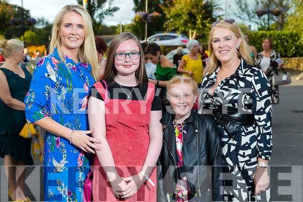 Karen and leesha O'Carroll, Grace Nolan, Tricia Levin (all Tralee) at the Rose of Tralee fashion show at the dome on Sunday night.