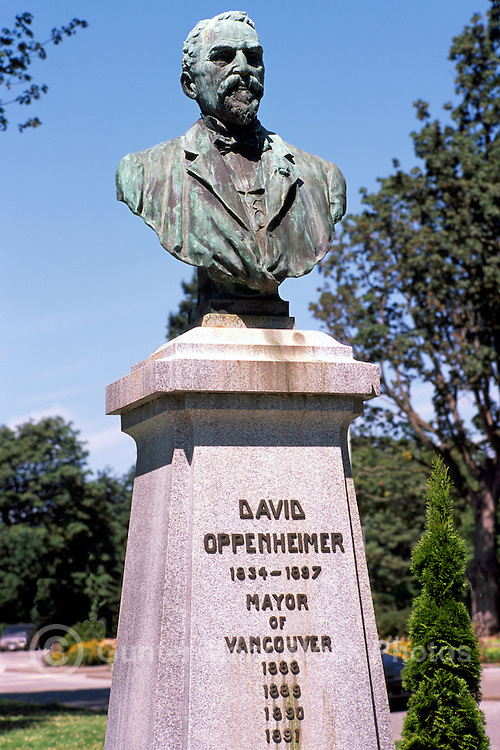 """David Oppenheimer"" Bust in Stanley Park, Vancouver, BC, British Columbia, Canada - Charles Marega Artist"