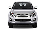 Car photography straight front view of a 2019 Isuzu D-Max LSX-4wd-crew-cab 5 Door Pick-up Front View