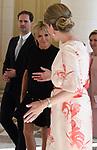 Sommet de l'OTAN: les epouses des chefs d'Etat recues par la Reine Mathilde au Chateau de Laeken <br /> brigitte macron