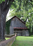 Barn in Urbanna Virginia Middlesex County founded 1673, Urbanna serving as a port for shipping agricultural products and later as the county's commercial and governmental center in 1680's, Rosegill Estate, Sir Henry Chicheley, Thomas Culpeper, Lord Francis Howard, barn, old barn,