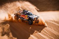 5th January 2021; Dakar Rally stage 3; 302 Peterhansel Stéphane (fra), Boulanger Edouard (fra), Mini, X-Raid Mini JCQ Team, Auto, action during the 3rd stage of the Dakar 2021 between Wadi Al Dawasir and Wadi Al Dawasir, in Saudi Arabia on January 5, 2021