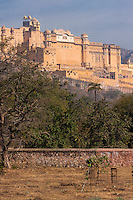 Amber (or Amer) Palace, near Jaipur, Rajasthan, India.