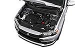 Car Stock 2016 Mitsubishi Outlander-Sport 2.4-ES-AWC-CVT 5 Door SUV Engine  high angle detail view