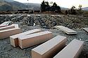 Iraq 2008.In Dukan, coffins of Anfal victims  Irak 2008 A Dokan, cercueils de victimes de l'Anfal