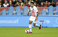 TORONTO, ON - OCTOBER 15: Weston McKennie #8 of the United States dribbles with the ball during a game between Canada and USMNT at BMO Field on October 15, 2019 in Toronto, Canada.