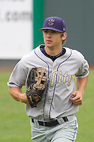 August 7, 2007: Tri-City Dust Devils' outfielder Brian Rike trots in from the outfield during a Northwest League game against the Everett AquaSox at Everett Memorial Stadium in Everett, Washington.