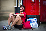 © Joel Goodman - 07973 332324 . 20/09/2015 . Stockport , UK . After the race . The Big Stockport run from St Petersage in Stockport Town Centre . Photo credit : Joel Goodman