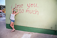 """""""I love you so much"""" mural on South Congress is one of Austin's most visited areas and is a hot spot for tourists and Austinites alike."""