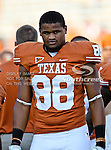 Texas Longhorns defensive end Cedric Reed (88) in action during the game between the Brigham Young Cougars and the Texas Longhorns at the Darrell K Royal - Texas Memorial Stadium in Austin, Texas. Texas defeats Brigham Young 17 to 16...