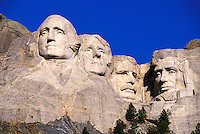 Mount Rushmore National Memorial, sculptures of Presidents George Washington, Thomas Jefferson, Theodore Roosevelt, Abraham Lincoln by Gutzon Borglum.