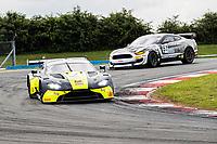 Andrew Howard & Jonny Adam, Aston Martin Vantage AMR GT3, Beechdean AMR from Will Moore & Matt Cowley, Ford Mustang GT4, Academy Motorsport around Goddards during the British GT & F3 Championship on 10th July 2021