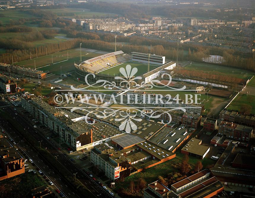 December 1995. Bosuil voetbalstadion van R. Antwerpe FC.