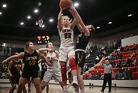 Pea Ridge forward Blakelee Winn (22) shoots, Friday, January 8, 2021 during a basketball game at Pea Ridge High School in Pea Ridge. Check out nwaonline.com/210108Daily/ for today's photo gallery. <br /> (NWA Democrat-Gazette/Charlie Kaijo)
