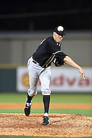 Omaha Storm Chasers pitcher Kameron Loe (29) delivers a warmup pitch during the second game of a double header against the Nashville Sounds on May 21, 2014 at Herschel Greer Stadium in Nashville, Tennessee.  Nashville defeated Omaha 13-4.  (Mike Janes/Four Seam Images)