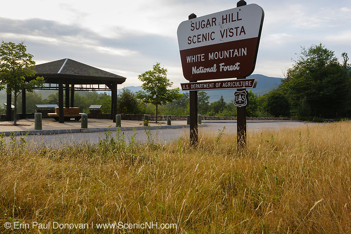 Sugar Hill Scenic Vista along the Kancamagus Scenic Byway in the White Mountains of New Hampshire USA.
