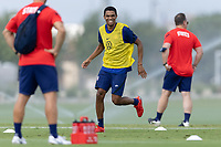 FRISCO, TX - JULY 20: Reggie Cannon Field Activation during a training session at Toyota Soccer Center FC Dallas on July 20, 2021 in Frisco, Texas.