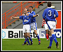 5/10/02       Copyright Pic : James Stewart                     .File Name : stewart-hamilton v stranraer 13.IAN HARTY IS CONGRATULATED BY JOHN FALLON AFTER HE SCORED THE SECOND....James Stewart Photo Agency, 19 Carronlea Drive, Falkirk. FK2 8DN      Vat Reg No. 607 6932 25.Office : +44 (0)1324 570906     .Mobile : + 44 (0)7721 416997.Fax     :  +44 (0)1324 570906.E-mail : jim@jspa.co.uk.If you require further information then contact Jim Stewart on any of the numbers above.........