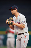Pawtucket Red Sox first baseman Sam Travis (15) during a game against the Buffalo Bisons on May 19, 2017 at Coca-Cola Field in Buffalo, New York.  Buffalo defeated Pawtucket 7-5 in thirteen innings.  (Mike Janes/Four Seam Images)