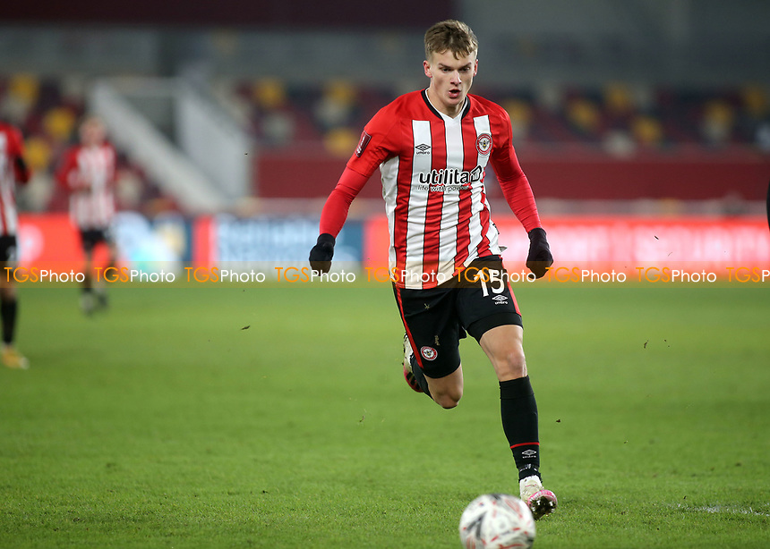 Marcus Forss of Brentford in action during Brentford vs Middlesbrough, Emirates FA Cup Football at the Brentford Community Stadium on 9th January 2021