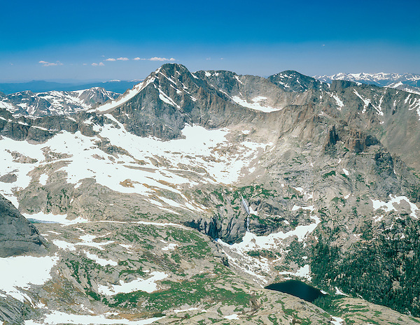 View from the Keyhole on Longs Peak.<br /> John leads private photo tours and kikes in Rocky Mountain National Park. All-year. Anytime.