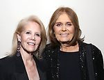 """Daryl Roth and Gloria Steinem attends the Opening Night Performance After Party for """"Gloria: A Life"""" on October 18, 2018 at the Gramercy Park Hotel in New York City."""