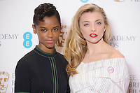 Letitia Wright and Natalie Dormer<br /> at the photocall for BAFTA Film Awards 2018 nominations announcement, London<br /> <br /> <br /> ©Ash Knotek  D3367  09/01/2018