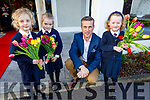 Sadie O'Donovan, Ava Cronin, Padraig McGillcuddy and Siún O'Connor launching the Caherleaheen NS fundraising BBQ in the Ballygarry House Hotel on Friday. <br /> <br /> (The event will be held on Friday, March 13th in the Ballygarry House Hotel and is a fundraiser for the Hugh's House charity which works with both Temple Street and The Rotunda hospitals, providing accommodation for the families of sick children.<br /> The Caherleaheen NS Parents Association's aim to raise funds for Hugh's House in support of parents Jenny Pye and Alex O'Donovan who are parents to Jake, who is in Temple Street for the last year and his big sister Sadie is in senior infants in Caherleaheen NS.)