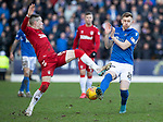 St Johnstone v Rangers…..23.02.20   McDiarmid Park   SPFL<br />Ryan Kent and Liam Craig battle for the ball<br />Picture by Graeme Hart.<br />Copyright Perthshire Picture Agency<br />Tel: 01738 623350  Mobile: 07990 594431