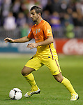 FC Barcelona's Martin Montoya during Spanish King's Cup match.October 30,2012. (ALTERPHOTOS/Acero)