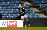 first goal scored for Millwall by Tom Bradshaw of Millwall as he celebrates during Millwall vs Nottingham Forest, Sky Bet EFL Championship Football at The Den on 19th December 2020