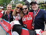 Calgary, AB - June 6 2014 - Patrick Jarvis, Karen O'Neill, Peter Judge and Lane McAdam enjoying the Celebration of Excellence Parade of Champions. (Photo: Matthew Murnaghan/Canadian Paralympic Committee)