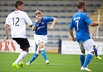 Raith Rovers v St Johnstone...12.07.14  Pre-Season Friendly<br /> David Wotherspoon curls the ball in to make it 1-1<br /> Picture by Graeme Hart.<br /> Copyright Perthshire Picture Agency<br /> Tel: 01738 623350  Mobile: 07990 594431
