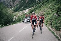Tiesj Benoot (BEL/Lotto-Soudal) & Jelle Vanendert (BEL/Lotto-Soudal)<br /> <br /> Stage 7: Moûtiers > Saint-Gervais Mont Blanc (129km)<br /> 70th Critérium du Dauphiné 2018 (2.UWT)