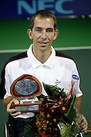 19-11-06,Amsterdam, Tennis, Wheelchair Masters, Robin Ammerlaan winner of the Masters 2006