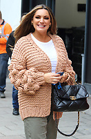 Kelly Brook arrives at the Global Radio Studios in Leicester Square, London on Wednesday October 14th 2020<br /> <br /> Photo by Keith Mayhew