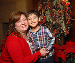 Jerri Monbaron and her son Dylan,3, at the Houston Symphony League's annual Magical Musical Morning event at the Houstonian Saturday Dec. 12,2009.(Dave Rossman/For the Chronicle)