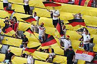 Fans feuern Deutschland mit Abstand im Stadion an<br /> - Muenchen 19.06.2021: Deutschland vs. Portugal, Allianz Arena Muenchen, Euro2020, emonline, emspor, <br /> <br /> Foto: Marc Schueler/Sportpics.de<br /> Nur für journalistische Zwecke. Only for editorial use. (DFL/DFB REGULATIONS PROHIBIT ANY USE OF PHOTOGRAPHS as IMAGE SEQUENCES and/or QUASI-VIDEO)