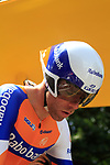 Bram Tankink (NED) Rabobank waits to start the Prologue of the 99th edition of the Tour de France 2012, a 6.4km individual time trial starting in Parc d'Avroy, Liege, Belgium. 30th June 2012.<br /> (Photo by Eoin Clarke/NEWSFILE)