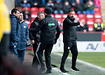 Aberdeen v St Johnstone…31.03.18…  Pittodrie    SPFL<br />Derek McInnes gives instructions<br />Picture by Graeme Hart. <br />Copyright Perthshire Picture Agency<br />Tel: 01738 623350  Mobile: 07990 594431