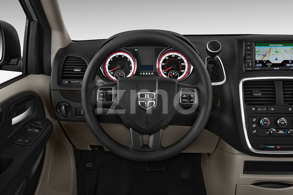 Car pictures of steering wheel view of a 2018 Dodge Grand-Caravan SE 5 Door Minivan Steering Wheel