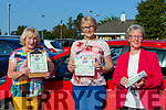 Bridget O'Shea, Dawn O'Sullivan and Kay Stack Tralee enjoying the sun at the St Pauls BC bingo in Killarney on Sunday