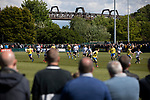 Spectators watching the early action as Warrington Town played King's Lynn Town in the Northern Premier League premier division super play-off final tie at Cantilever Park, Warrington. The one-off match was between the winners of play-off matches in the Northern Premier League and the Southern League Premier Division Central to determine who would be promoted to the National League North. The visitors from Norfolk won 3-2 after extra-time, watched by a near-capacity crowd of 2,200.