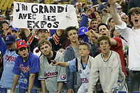 Montreal's Expos last game in Montreal before after beeing bought by Jeffrey Lorria.<br /> <br /> photo : (c)  Images Distribution
