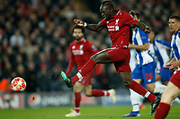 """Sadio Mane of Liverpool puts the ball in the net but after VAR review the """"goal"""" is disallowed during the UEFA Champions League Quarter Final first leg match between Liverpool and Porto at Anfield on April 9th 2019 in Liverpool, England. (Photo by Daniel Chesterton/phcimages.com)<br /> Foto PHC/Insidefoto <br /> ITALY ONLY"""