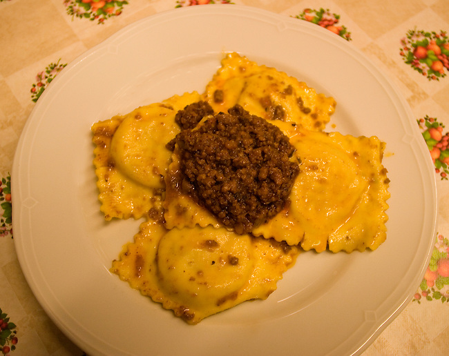 Raviolis and Meat Sauce, Mario Restaurant, Florence, Tuscany, Italy