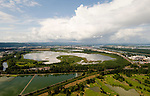Aerial of Smith and Bybee Lakes, Portland, Oregon