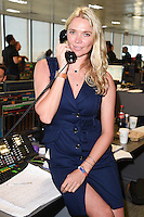 Jodie Kidd<br /> on the trading floor for the BGC Charity Day 2016, Canary Wharf, London.<br /> <br /> <br /> ©Ash Knotek  D3152  12/09/2016