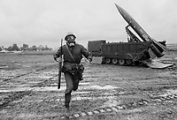 """- NATO military exercise in Friuli,  tactical nuclear missile """"Lance"""" of  Italian army (september 1981)......-  esercitazione NATO in Friuli, missile nucleare tattico """"Lance""""  dell'esercito Italiano (settembre 1981)......"""